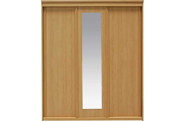 New hallingford 3 door sliding wardrobe oak review compare prices buy online
