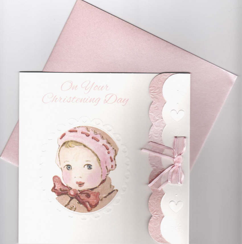 Nostalgic Baby Girl Christening Card product image