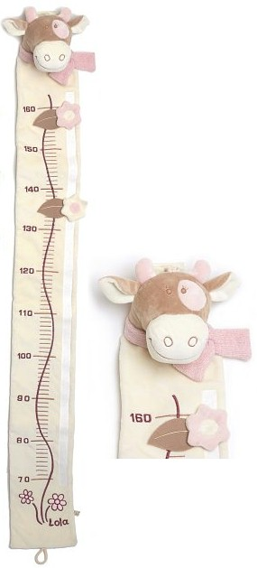 A delightful gift to welcome the newborn baby! A soft velour growth chart. Lola is the loveable cow