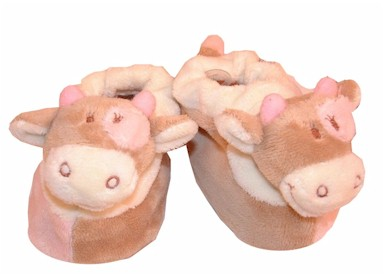 Lola the smiling cow slippers from the Noukie`s collection. Embroidered on the highest quality soft