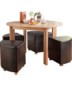 oakford space saving dining table and 4 chairs review