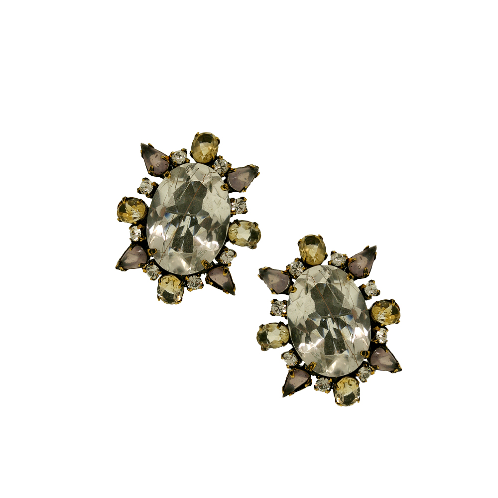 Oval Quartz Crystal Clips product image