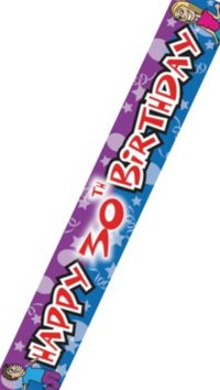 Unbranded Party Banner - Happy 30th Birthday 9ft