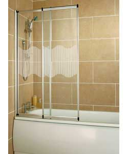 Patterned Silver Sliding Shower Screen Review Compare