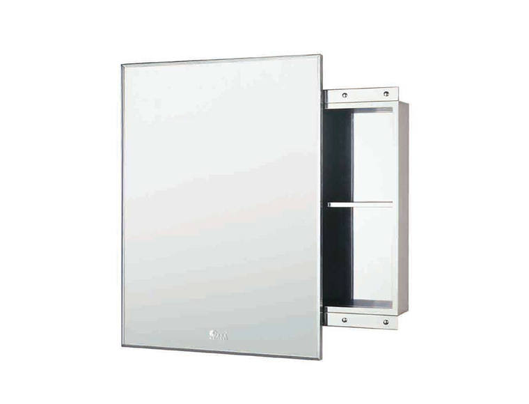 Stainless Steel Mirrored Cabinet. Height 800 mm Wi