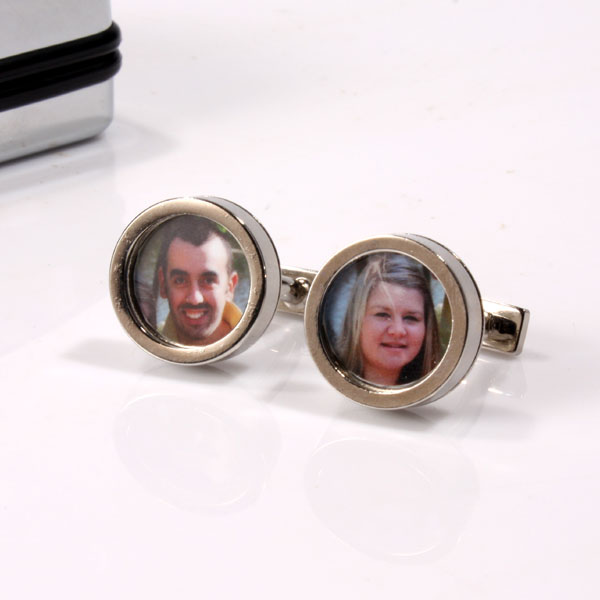 Unbranded Photo Frame Cufflinks in Personalised Box