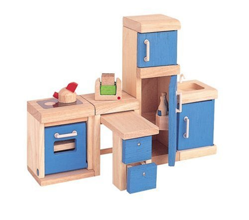 Plan toys kitchen neo wooden dollhouse furniture plan toys dolls house review compare Dolls wooden furniture