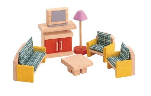Plan Toys: Living Room - Neo (Wooden Dollhouse Furniture)- Plan Toys product image
