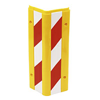 Pack of 2. High visibility, reflective, red / white stripped hazard protection markers. Honeycomb