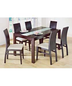 Ramona Dining Table And 6 High Back Ramona Dining Chairs Dining Table Revie