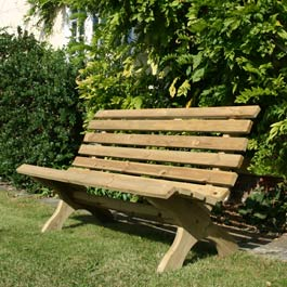 Rawgarden Lily Pine Garden Bench - review, compare prices, buy online