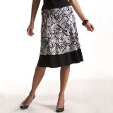 Redoute creation skirt blk/wht prnt 10x12