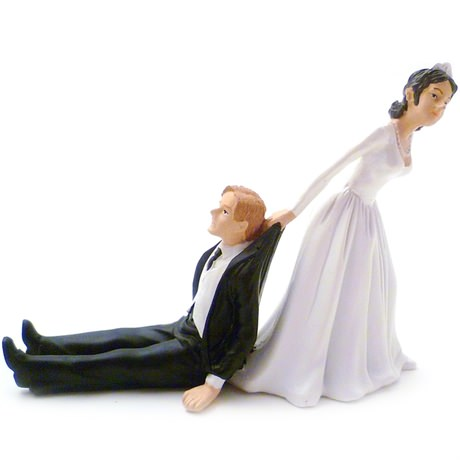 Reluctant Groom Cake Topper Uk