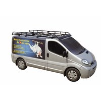 Heavy duty, black roof rack with front bar aerofoil to minimise wind noise and drag. Supplied with
