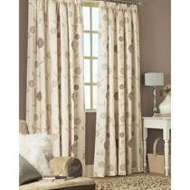 Unbranded Rosemont Natural Lined 1/2 Panama Curtains 168x183