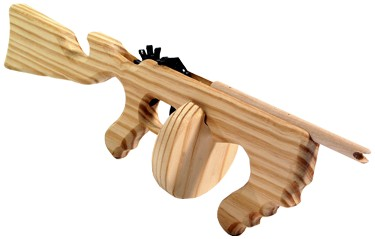 Tommy gun woodworking plans   Working project
