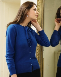 Ruffle Tie Neck Cardigan product image