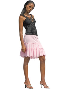 Ruffled Gipsy Skirt Pink M/L