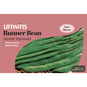 Unbranded Runner Bean Sunset Seeds