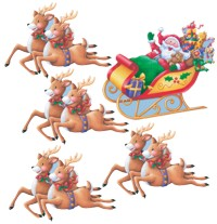 Unbranded Santa and Sleigh Cutout Assortment