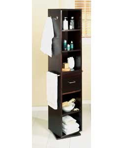seattle revolving bathroom storage unit dark wood bathroom cabinet
