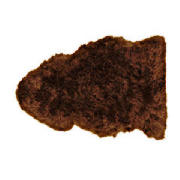 Unbranded Sheepskin Rug, Chocolate