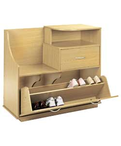 Shoe Storage Cabinet with Seat