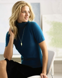 Short Sleeved Polo Neck Sweater product image