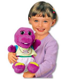 Baby Barney Loves to wiggle his arms, feet and head.He sings 5 songs including Head, Shoulders,