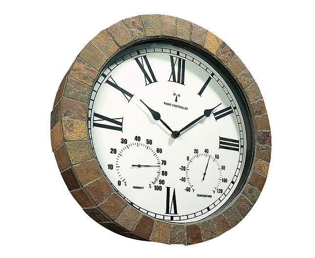 Unbranded Slate Courtyard Clock