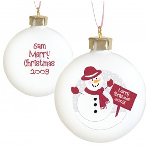 Unbranded (Snowman Bauble) Personalised Christmas Tree