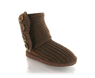 Unbranded Snug Knitted Mid High Boot