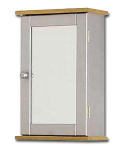 solid beech silver bathroom cabinet