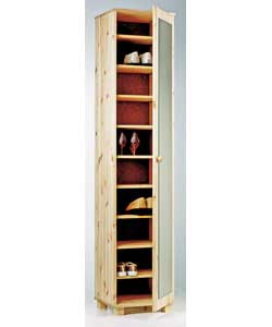 Solid Pine Shoe Rack with Mirror product image