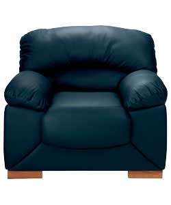 Sophia Leather Chair - Blue