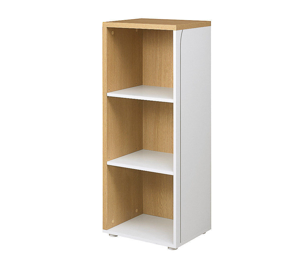 Space2 Home Office 1200 White And Oak Bookcase