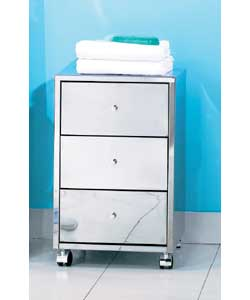 stainless steel 3 drawer unit on casters bathroom cabinet review compare prices buy online. Black Bedroom Furniture Sets. Home Design Ideas