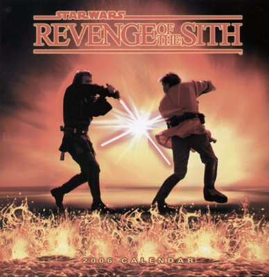 Star Wars Revenge of the Sith Calendar