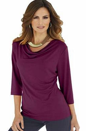 Unbranded Stretch Draped Neck Top