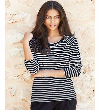 Unbranded Stripe Embellished Top