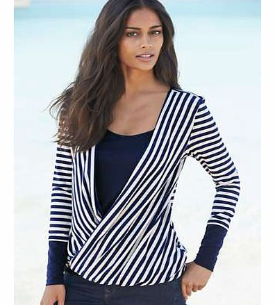 Unbranded Stripe Wrap Layer Top