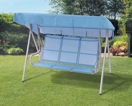 Backyard Tuscan Swing Set : smiley faces infant swing sicily 3 seater swing hammock white