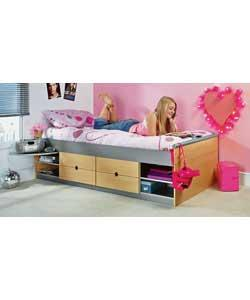 Teen Single Cabin Bed with Protector Mattress Cabin Bed ...