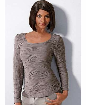 Unbranded Textured Round Neck Top