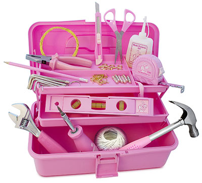 Sisters will definitely be doing it for themselves when they have their very own toolbox.The pink
