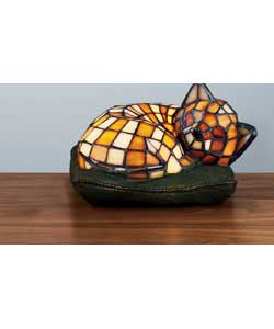 tiffany style cat on cushion lamp review compare prices buy online. Black Bedroom Furniture Sets. Home Design Ideas