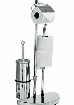 This ultra stylish 2-in1 chrome plated toilet brush with toilet holder has a sleek. eye-catching design that wont look out of place in a stylish bathroom. Combined brush and roll holder: Complete with fixtures and fittings. EAN: 8317939. - CLICK FOR MORE INFORMATION