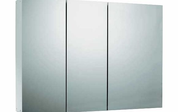 Triple Mirrored Bathroom Cabinet White Review Compare Prices Buy Online