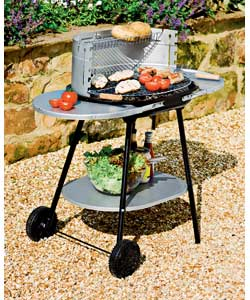 Trolley Charcoal BBQ with Shelf product image