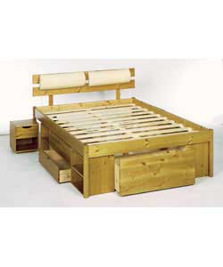Double Bed Frame Pine Headboard